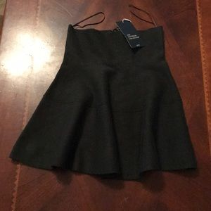 NWT Zara Hunter Green Knit Skirt